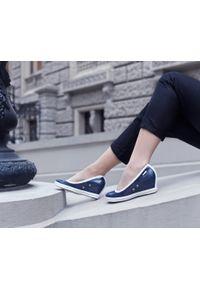 Niebieskie półbuty Zapato na spotkanie biznesowe, biznesowe