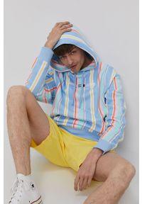 Niebieska bluza nierozpinana Tommy Jeans z kapturem
