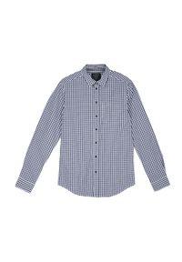Niebieska koszula TOP SECRET casualowa, w kratkę, na lato, na co dzień