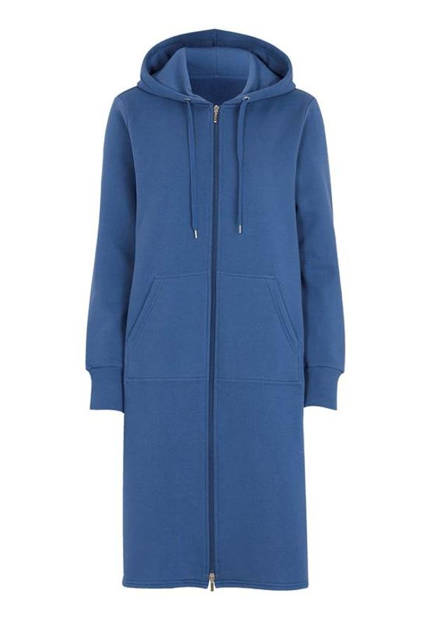 Cellbes Długa bluza niebieski female niebieski 58/60. Typ kołnierza: kaptur. Kolor: niebieski. Materiał: dresówka, tkanina. Długość: długie