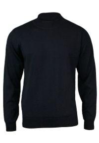 Niebieski sweter MM Classic z klasycznym kołnierzykiem, klasyczny