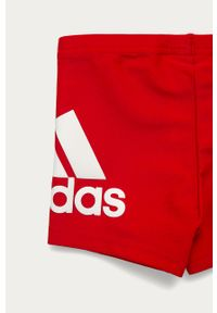 Czerwone kąpielówki adidas Performance z nadrukiem