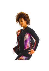 NABAIJI - Koszulka długi rękaw do aquafitness damska Nabaiji Vib. Kolor: pomarańczowy, różowy, czarny, wielokolorowy. Materiał: materiał, poliester. Długość: długie