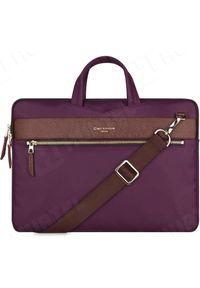 Fioletowa torba na laptopa Cartinoe elegancka