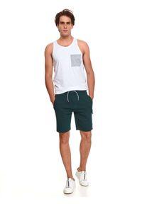 TOP SECRET - T-shirt bez rękawów z kieszenią. Kolor: biały. Długość rękawa: bez rękawów