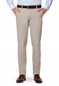 Beżowe spodnie Lancerto casualowe, w kolorowe wzory, na co dzień