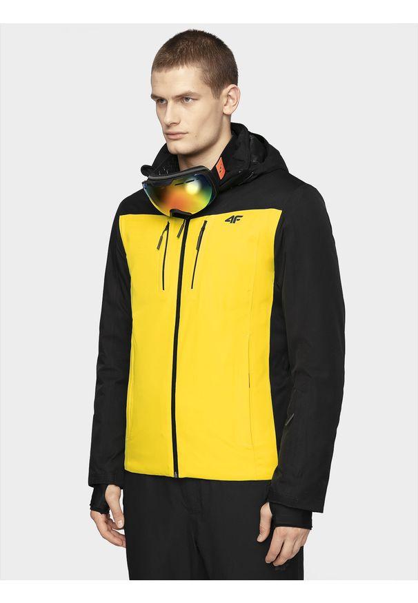 Żółta kurtka narciarska 4f na zimę