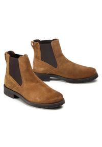 Brązowe buty zimowe Camel Active na co dzień, z cholewką, klasyczne