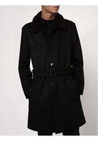 Czarny płaszcz przejściowy Hugo #7