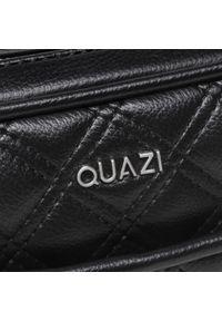Torebka QUAZI - RX90007 Black. Kolor: czarny. Materiał: skórzane. Styl: elegancki
