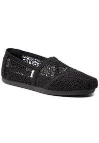 Toms - Półbuty TOMS - Alpargata 10016254 Black Moroccan Crochet. Kolor: czarny. Materiał: materiał. Szerokość cholewki: normalna. Obcas: na płaskiej podeszwie