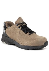 Zielone buty trekkingowe Jack Wolfskin z cholewką, trekkingowe