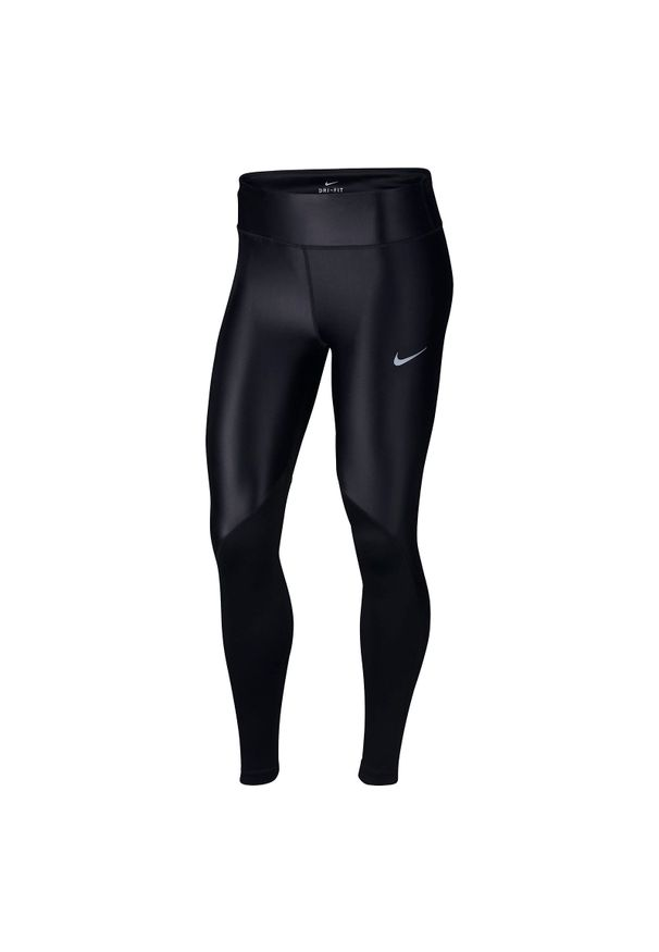 Spodnie Nike Fast Tight W AT3103. Stan: standardowy. Materiał: skóra. Technologia: Dri-Fit (Nike)