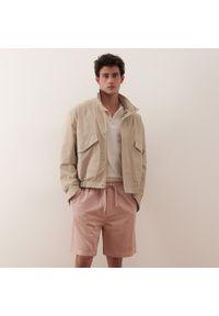 Reserved - Szorty z bawełny modalu i lnu - Różowy. Kolor: różowy. Materiał: len, bawełna