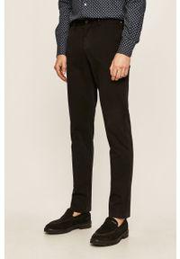 Czarne spodnie TOMMY HILFIGER na co dzień, casualowe