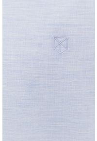 Premium by Jack&Jones - Koszula. Typ kołnierza: button down. Kolor: fioletowy. Materiał: tkanina. Wzór: gładki