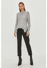 Szary sweter Vila casualowy, długi