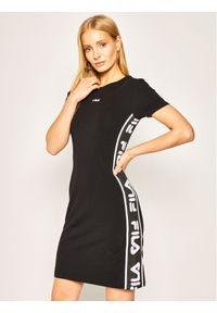 Czarna sukienka sportowa Fila na co dzień, casualowa