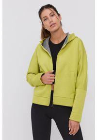 Deha - Bluza. Kolor: zielony. Materiał: dzianina