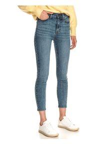 TOP SECRET - Jeansowe rurki damskie. Kolor: niebieski. Materiał: jeans