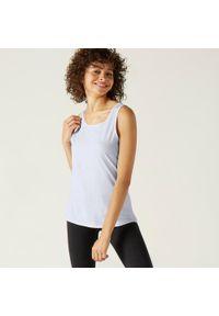 NYAMBA - Koszulka bez rękawów fitness. Kolor: biały. Materiał: materiał, bawełna. Długość rękawa: bez rękawów. Sport: fitness