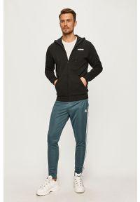 Czarna bluza rozpinana Adidas z kapturem, casualowa, na co dzień