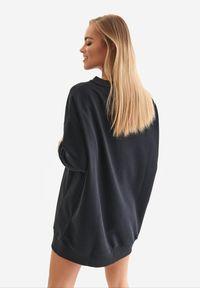 Born2be - Czarna Bluza Badura Xirarge. Kolor: czarny. Materiał: bawełna, dresówka, dzianina, poliester. Długość: długie. Wzór: haft