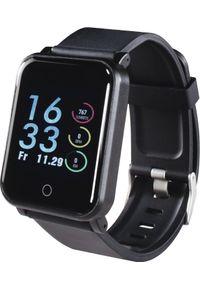 Czarny zegarek hama smartwatch