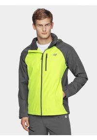 Zielona kurtka przeciwdeszczowa 4f na co dzień, z kapturem, casualowa