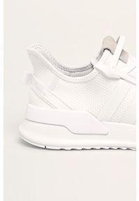 Białe sneakersy adidas Originals do biegania, z cholewką, na sznurówki
