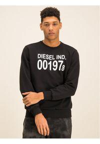 Diesel Bluza S-Girk-J3 00SDPY 0IAJH Czarny Regular Fit. Kolor: czarny