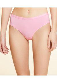 Coton 360 Hipstery Z Elastycznej Bio Bawełny - Curkierkowy Róż - Etam. Kolor: różowy. Materiał: bawełna. Wzór: ze splotem
