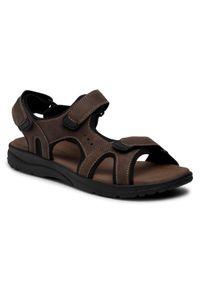 Brązowe sandały Lanetti na lato