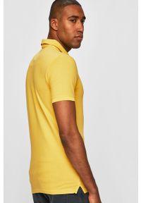Żółta koszulka polo medicine polo, krótka