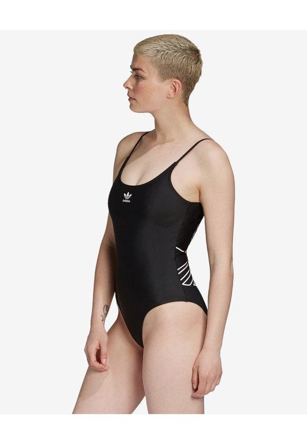 Czarny strój kąpielowy adidas Originals w kolorowe wzory
