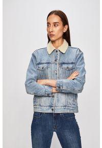 Levi's® - Levi's - Kurtka jeansowa. Okazja: na co dzień, na spotkanie biznesowe. Kolor: fioletowy. Materiał: jeans. Styl: biznesowy, casual