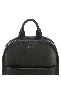 Wittchen - Męski plecak na laptopa skórzany. Kolor: czarny. Materiał: skóra. Wzór: aplikacja, paski. Styl: casual