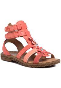 Czerwone sandały Primigi na lato, z aplikacjami