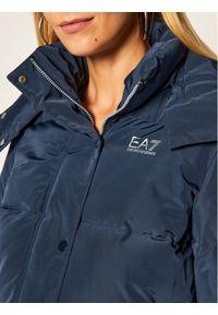 Niebieska kurtka puchowa EA7 Emporio Armani