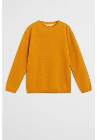 Żółty sweter Mango Kids casualowy, na co dzień