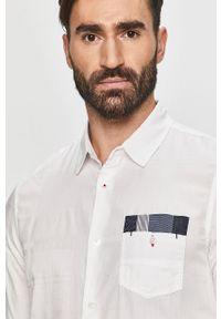 Biała koszula Desigual na co dzień, casualowa, długa, z długim rękawem