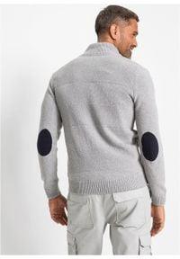 Szary sweter bonprix ze stójką, melanż
