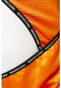 Pomarańczowa czapka DC