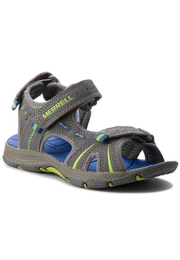 Szare sandały Merrell na rzepy