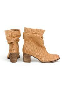 Botki Zapato eleganckie, bez zapięcia, wąskie, do pracy