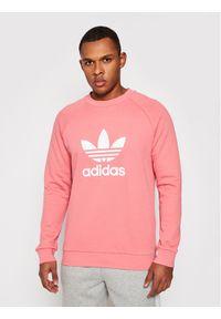 Adidas - adidas Bluza Trefoil Crew GP1025 Różowy Standard Fit. Kolor: różowy