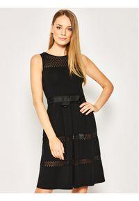 Czarna sukienka Luisa Spagnoli prosta, na co dzień, casualowa