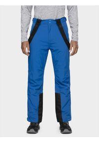 Niebieskie spodnie narciarskie 4f na zimę