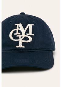 Niebieska czapka z daszkiem Marc O'Polo z aplikacjami