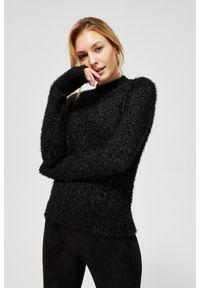 MOODO - Sweter typu miś z metaliczną nitką. Typ kołnierza: golf. Materiał: poliester. Długość rękawa: długi rękaw. Długość: długie. Wzór: gładki